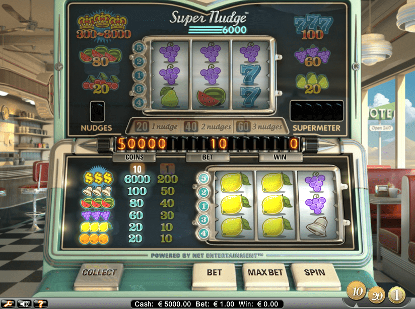 Super Nudge 6000 Slot Machine Screenshot